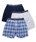 Polo Ralph Lauren Three Pack Classic Fit Cotton Knit Boxers White Blue LCKBS3 3