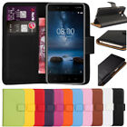 Premium Flip Wallet Leather Case Cover For Nokia 3 5 6 8 + Free Screen Protector