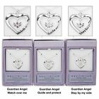 Equilibrium Guardian Angel Silver Plated Heart Pendant Necklace JD 49785
