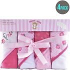 Snugly Baby Girls Hooded Towels 4-pack BRAND NEW!!!!!