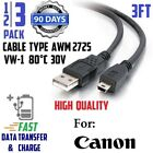 """3x - 3ft 36"""" MINI USB FAST Charge/Data Transfer Cable for Canon PowerShot Camera"""