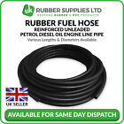 Rubber Fuel Hose Reinforced Unleaded Petrol Diesel Oil Engine Line Pipe Black