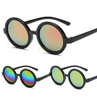 Fashion Steampunk Sunglasses Mirrored Glasses Round Lens Classic Retro Glasses