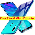 Clear TPU Cover Case + Tempered Glass For Huawei P Smart P8 P10 Lite Y6 2017