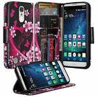 LG Fortune 2 Design Wallet Credit Card Kick Stand Flip Phone Case Cover Cricket