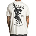 Sullen Art Collective Clothing T-Shirt - Cut Off Creme Panther Tattoo Pinsel