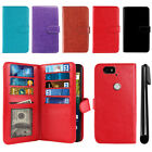 For Huawei Google Nexus 6P Flip Card Holder Wallet Cover Case Wrist Strap + Pen