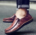 Mens British Slip On Faux Leather New Moccasin Breathable Driving Shoes Loafer