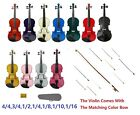 New Violin Case Colored Bow Gifts-Student Beginner Starter School Orchestra Toy