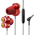 Quad-core Dual-speaker Wired Headphones 35mm Stereo Earphone With Microphone