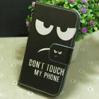1x Anger Don't Touch My Phone Wallet Holder flip case cover for Various phone