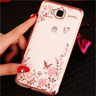 Bling Glitter Diamond Crystal Soft Silicone Back Case Cover For Huawei Phone
