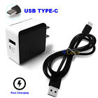 Fast Rapid HTC One M10 10 Bolt Wall Charger & USB Type C Cab