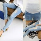 Внешний вид - Pregnant Women Denim Skinny Pants Adjustable Elastic Maternity Jeans Trousers