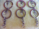 20 or 15 x Silver Tone Keyring Key Ring With Chain  ~ New Joblot Bundle ~ Resell