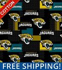 "Jacksonville Jaguars NFL Cotton Fabric - 60"" Wide - Style# 14728 - Free Shipping $15.95 USD on eBay"