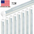 25/Pack T8 Integrated double row 8ft Led Tube Light 6000K 72W Clear Lens US SHIP