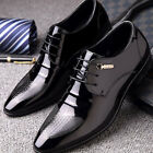 Mens Suit Formal Oxfords Shoes Dress Wedding Leather Lace up Brogue Wing Tip