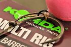 Korda Ready Tied Multi Rigs Barbed or Barbless Available Sizes 4, 6 or 8