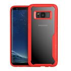 New For Samsung Galaxy S9/S8 Plus/Note 8 Clear Case Hybrid Shockproof Hard Cover