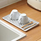 Dish Drainer Plates Cups Cutlery Holder Kitchen Sink Drying Rack Tray LJL