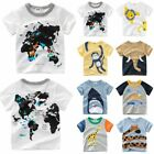 1-10 Year Age Kid Boy Sport Tops T-shirt Animal Printed Tee Multi-Color All Size