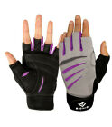 Bionic Womens Half Finger Cross Training Fitness Gloves /Leather Palms