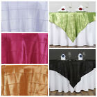 """60x60"""" Square Pintuck TABLE OVERLAY Fancy Wedding Party Catering Unique Linens"""