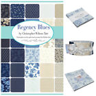 Regency Blues 100 % cotton, charm pack jelly roll layer cake by MODA