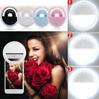 36 Led Rechargeable Selfie Ring Light 3 Level Brightness for iPhone X Samsung S9