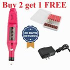Electric Nail Art Drill Tips Manicure Set Kit File Nail Grinder Polisher Tool US