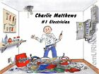 PERSONALIZED CUSTOM CARTOON PRINT - ELECTRICIAN - GREAT GIFT IDEA! FREE S/H