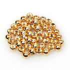 Gold Fly Tying Beads Tungsten 50/100pcs Fly Fishing Nymph Head Ball Beads 8 Size