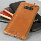 For Samsung Galaxy S8 / S8 Plus Case,Pierre Cardin Genuine Leather Back Cover