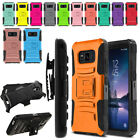 """For Samsung Galaxy S8 ACTIVE G892A 5.8"""" Color Hybrid Stand Holster Case Cover"""
