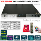 4TB HDD 74K Mandarin,Cantonese,English DVD Songs, Android Cloiud Karaoke Player