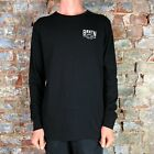 Brixton Langley Premium Long Sleeve Knit T-Shirt Tee – Black in Size S