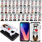 "For LG V30 V30+ Plus 6"" H930 VS996 I Love My Dog Design Hybrid Bumper Case Cover"