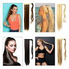 New High Ponytail Clip in Remy Human Hair Extension Drawstring/ Wrap Around 100g