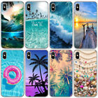 Summer Beach Pattern Slim Soft TPU Phone Case Cover For iphone 6 6S 7 8 Plus X