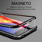 Magnetic Adsorption Metal Case For iPhone X 7 8 Plus Luxury Tempered Glass Cover