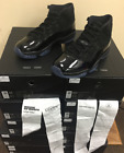 Air Jordan XI Retro 11 Cap and Gown Prom Night Triple Black 378037-005 Sz 8~14