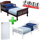 Toddler Bed With Mattress Wood Moll Boy Furniture Bedroom Child Kid Safety Rails