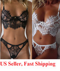 Women Sexy Lingerie Mini Dress Open Cup Teddy Babydoll Underwear White US FAST