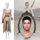 Women Star Wars The Force Awakens Rey Cosplay Costume Outfit Belt or Black Wig $19.85 USD on eBay