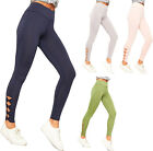 Womens Ruched Bow Ankle Skinny Leg High Waisted Jeggings Ladies Leggings Pants