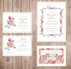 Floral Wedding Invitation Set, - RSVP, Save the Date, Song Request Card
