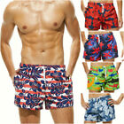 2018 Mens Quick-drying Sports Shorts Print Swim Trunks Beach Pants Board Shorts