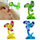 Portable USB Cable Safe Blades Flexible Clip On Mini Fan for Baby Pram Stroller