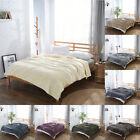 Winter Warm Solid High Grade Flannel Bed Sheets Recycled Blankets Throw Soft image